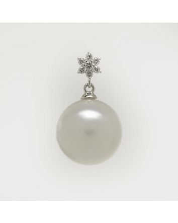 ROUND AUSTRALIAN SOUTH SEA PEARL PENDANT PY03 WHITE GOLD